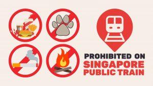 prohibited on singapore public train